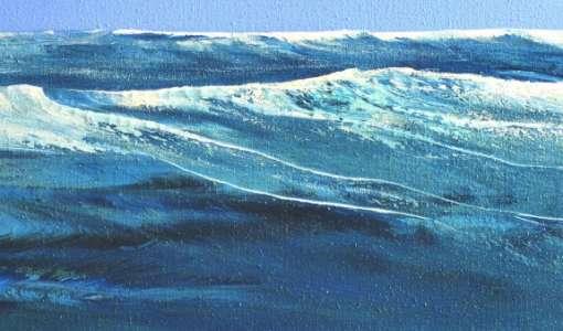 Wellen malen in Acryl