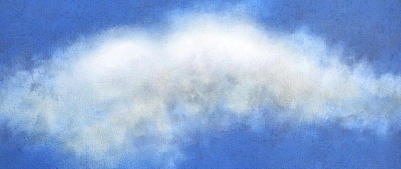 Wolken malen in Acryl