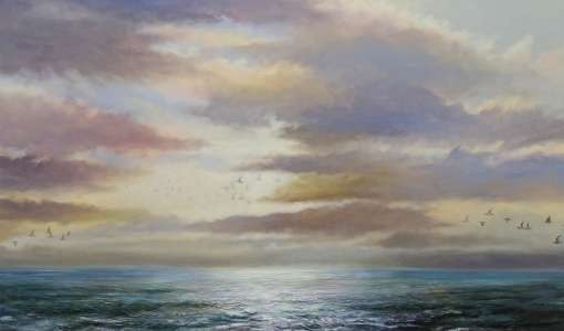 Realistische Landschaftsmalerei in Acryl