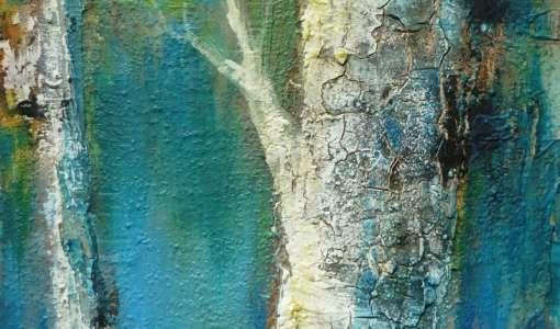 Spachteltechnik: Horizonte und Bäume