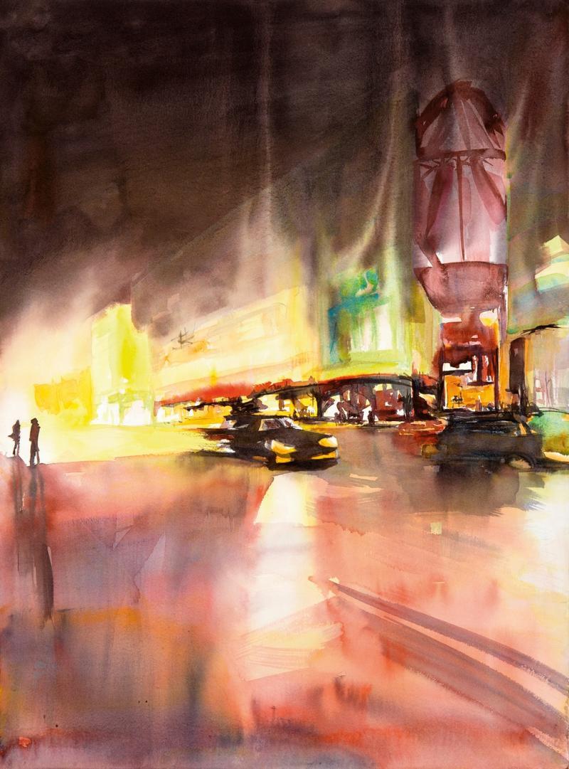 Malerische Städtebilder im Aquarell