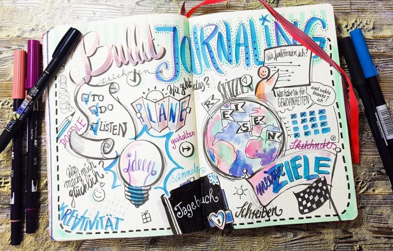 Journaling , Doodeling und Sketchnotes