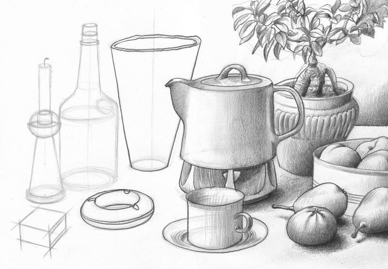 Ganz einfach Zeichnen lernen - Grundlagen der Räumlichkeit